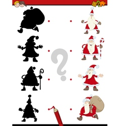 Christmas shadow activity game vector