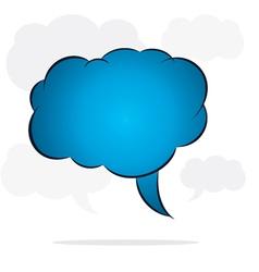 cloud message bubble stock vector image