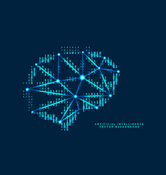 Digital brain design with technological numbers vector