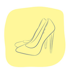 elegant women s high-heeled shoes fashion vector image