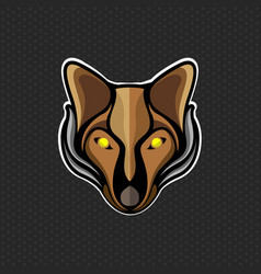 Fox logo design template fox head icon vector