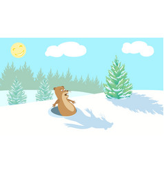 funny marmot scared vector image vector image