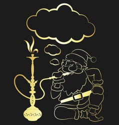 Hookah and santa claus vector