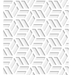 Japanese seamless pattern cut out from paper vector