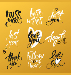 Love lettering background vector