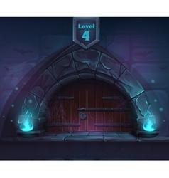 Magic door in the next 4th level vector