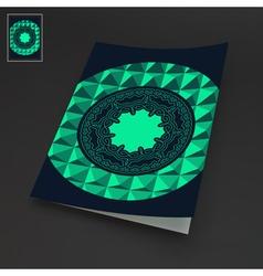 Notebook cover template oriental design vector