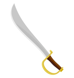 pirate sabre vector image vector image