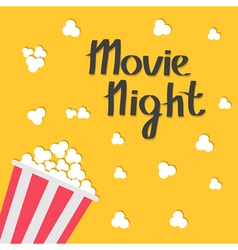 Popcorn bag Cinema icon in flat design style Movie vector image vector image
