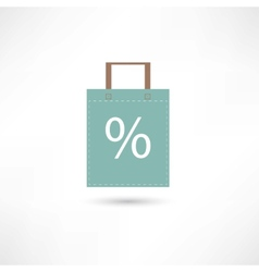 Sales and bag vector image vector image