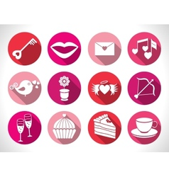 Set valentines day buttons signs vector image