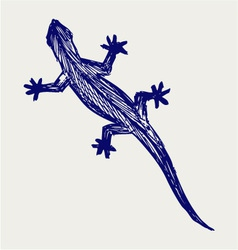 Silhouette of a gecko vector