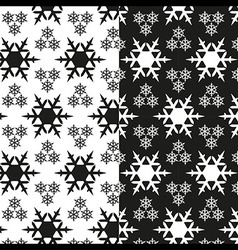 Snowflake pattern black and white vector image