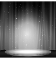 Stage with spotlight vector image