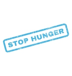 Stop hunger rubber stamp vector