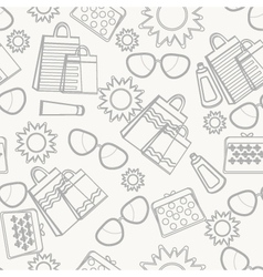 Summer accessories background sketch vector image