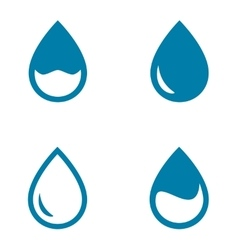 water drops set vector image vector image