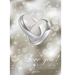 wedding rings vector image
