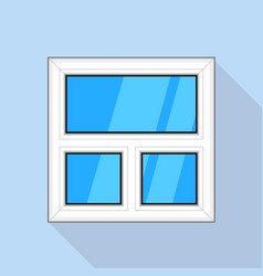 White blind plastic window icon flat style vector