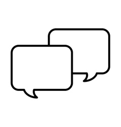 Speech bubble message line icon vector