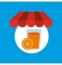 Shopping online tasty orange juice vector