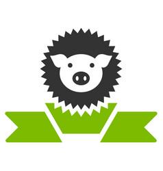 pig reward ribbon flat icon vector image