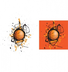 Basketball splat vector