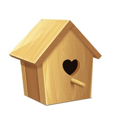 Nesting box heart vector