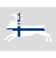 Reindeer of finland vector image