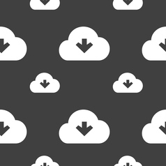 Download from cloud icon sign seamless pattern on vector