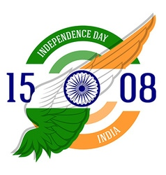 Indian independence day label or print with vector
