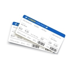Boarding pass ticket vector