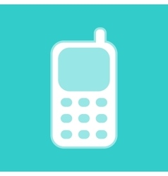 Cell phone icon vector
