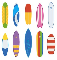 Surfboard collection vector