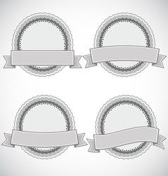 A set of vintage design labels and badges vector image