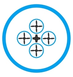 Airdrone Flat Icon vector image