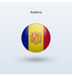 Andorra round flag vector