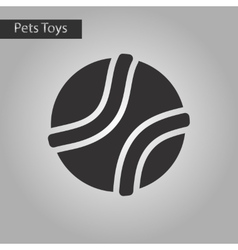 black and white style icon dog toy ball vector image