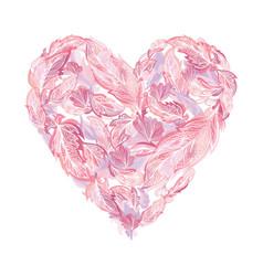 boho tender heart vector image