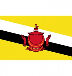 brunei flag vector image vector image