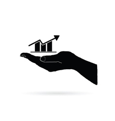Business success in hand black vector