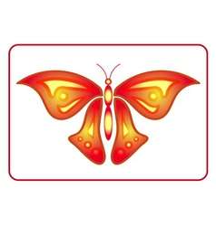 Butterfly beauty colorful sign neon 2 vector image