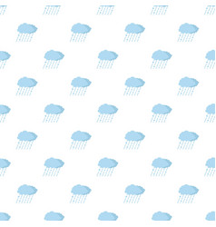 cloud rain snow pattern seamless vector image vector image
