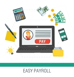 Concept easy online payroll operation vector