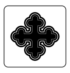 Cross icon on white background vector image