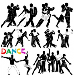 dance clothes silhouette vector image