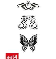 Decorative Tribal tattoos set4 vector image vector image