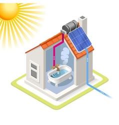 Energy chain 06 building isometric vector