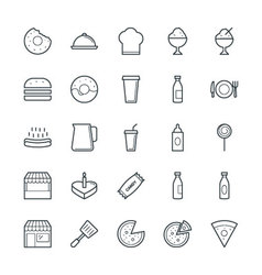Food cool icons 2 vector