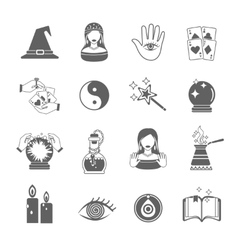 Fortune teller icon set vector